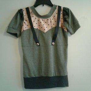 Tops - Vintage polka dot sweetheart top t shirt small